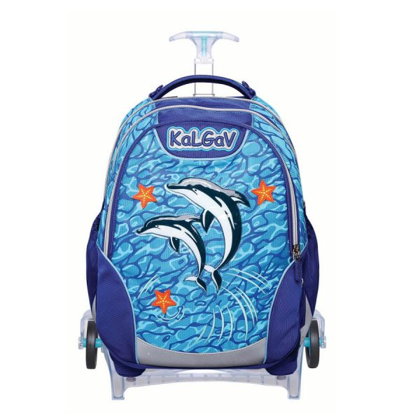תיק אורטופדי X BAG TROLLY דולפינים - KAL GAV