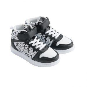 נעלי ספורט גבוהות - מיני מאוס שחור לבן