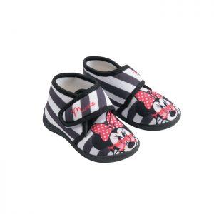 נעלי בית סקוטש מיני מאוס פסים שחור לבן