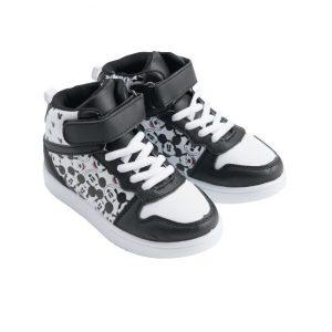 נעלי ספורט גבוהות - מיקי מאוס שחור לבן
