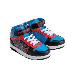 נעלי ספורט גבוהות - דגם ספיידרמן שחור
