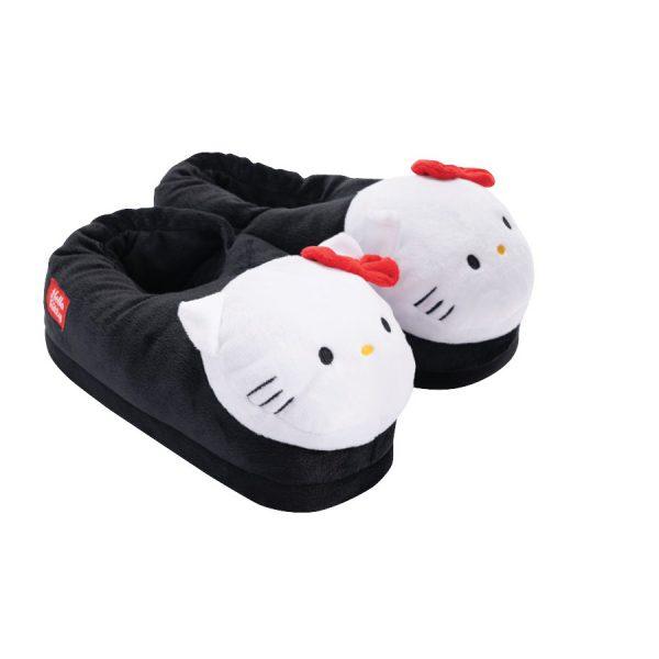 נעלי בית חורפיות ראש מובלט - דגמי הלו קיטי לנשים