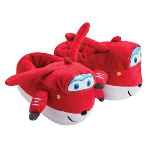 נעלי בית ראש מובלט מטוסי על אדום