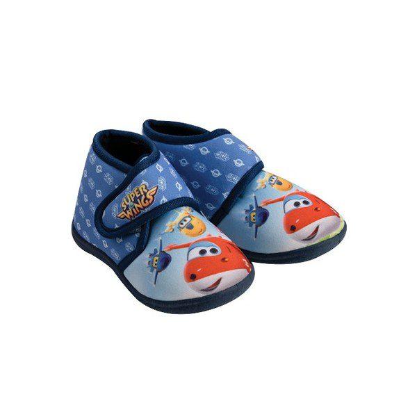 נעלי בית מטוסי על צבע כחול