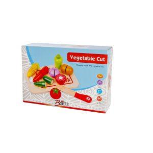 משחקי עץ לילדים ערכת חיתוך ירקות - BGIFTS