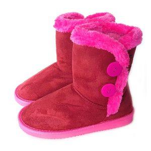 נעלי בית גבוהות לילדות KEDMA צבע אדום