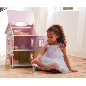 בית בובות תלת קומתי בצבעי פבטל - PITOYS