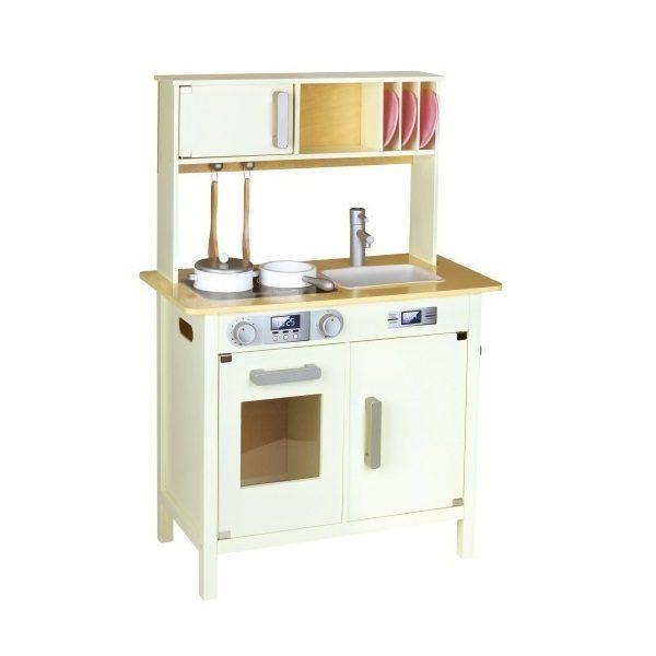 מטבח עץ לילדים דגם וינטג' שמנת - BGIFTS