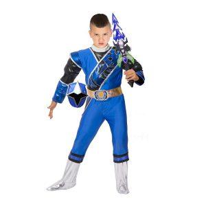 תחפושת לפורים פאוור ריינג'רס בצבע כחול - שושי זוהר