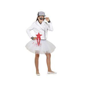 תחפושת לפורים נועה קירל חצאית טוטו לבנה+ ג'קט - שושי זוהר