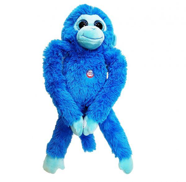 בובת חיבוקי בדמות קוף עיניים גדולות במגוון צבעים לבחירה
