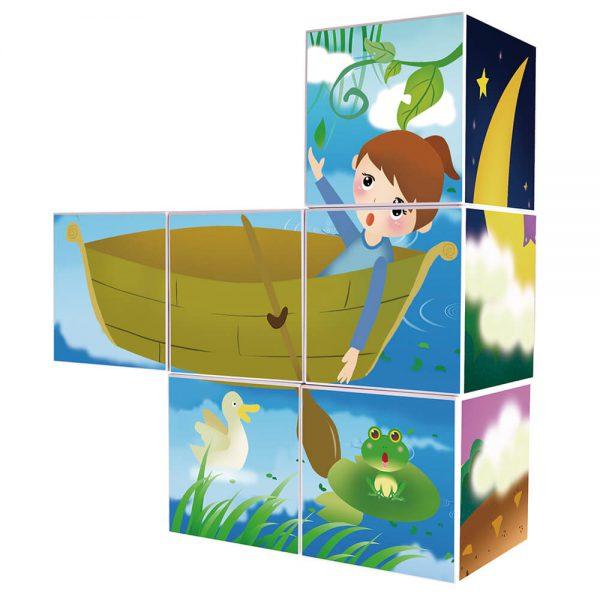פאזל מגנטי 6 חלקים 6 תמונות PLAYMAGER