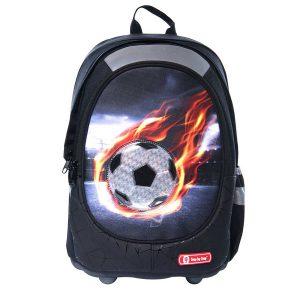 תיק גב אורטופדי דגם LUCKY כדורגל שחור - S.B.S