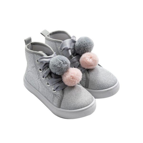 נעלי סניקרס גבוהות נצנץ מיקי מאוס לילדות בשני צבעים לבחירה