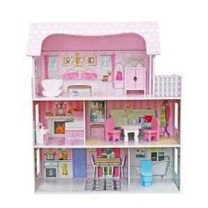 בית בובות מעץ לילדות דגם דנה