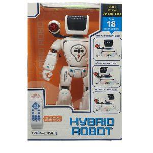 רובוט היברידי דובר עברית בעל מעל 18 פקודות תכנות