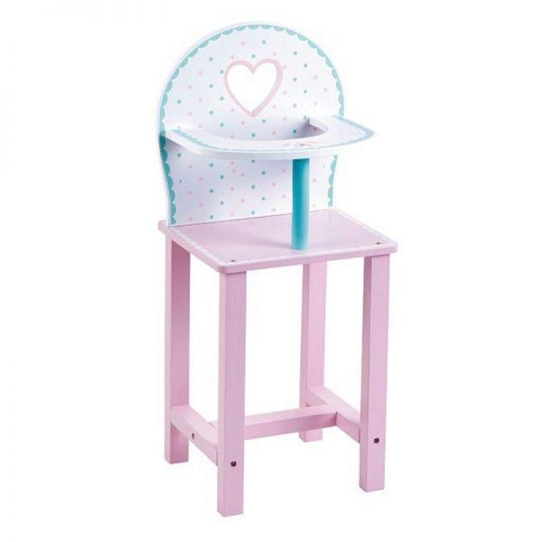 כסא אוכל לבובה מעץ PIT TOYS