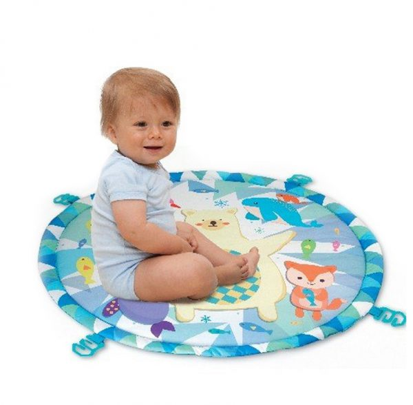 משטח פעילות אוניברסיטה לתינוקות עם עם מגוון צעצועים נתלים דגם דב קוטב Winfun