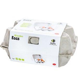 תבנית ביצים צעצוע מעץ לילדים לפיתוח הדמיון והיצירתיות BGIFTS