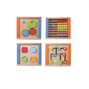 קוביית פעילות לתינוק הכוללת משחקי חשיבה ומוטוריקה שונים Pitoys