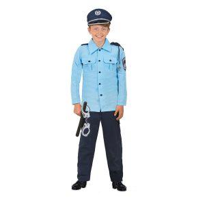 תחפושת לפורים שוטר כחול בהיר לילדים - שושי זוהר