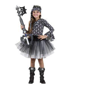 תחפושת לפורים נערת הגולגלות שחור לבן ילדות - שושי זוהר