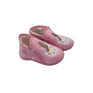 נעלי בית עם סגירת סקוטש Pink לפעוטות בדגמים לבחירה