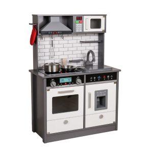 מטבחים לילדים -מטבח עץ אלקטרוני דגם יעל אפו