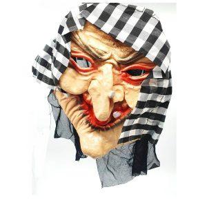 מסיכת פנים לפורים בדמות זקנה מפחידה