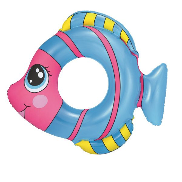 """גלגל ים בדמות דג 76 ס""""מ בצבעים לבחירה - BESTWAY"""