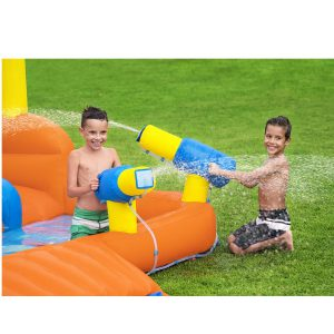 פארק מים מתנפח ענק לבית עם 2 מגלשות וקיר טיפוס BESTWAY 53351 - SPLASHTONA RACEWAY