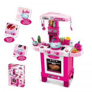 מטבחים לילדים - מטבח שף אלקטרוני בצבע ורוד - WIN
