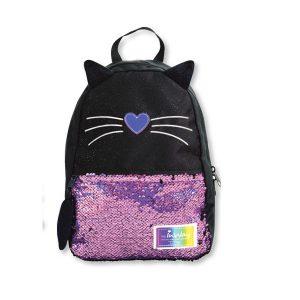 תיק אופנה דגם חתול פאייטים+זנב - INWAY