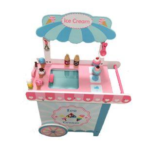 עגלת גלידה מעץ לילדים - PITOYS