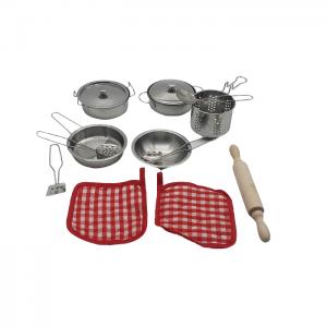 סט כלי מטבח מנירוסטה 14 חלקים+ מערוך