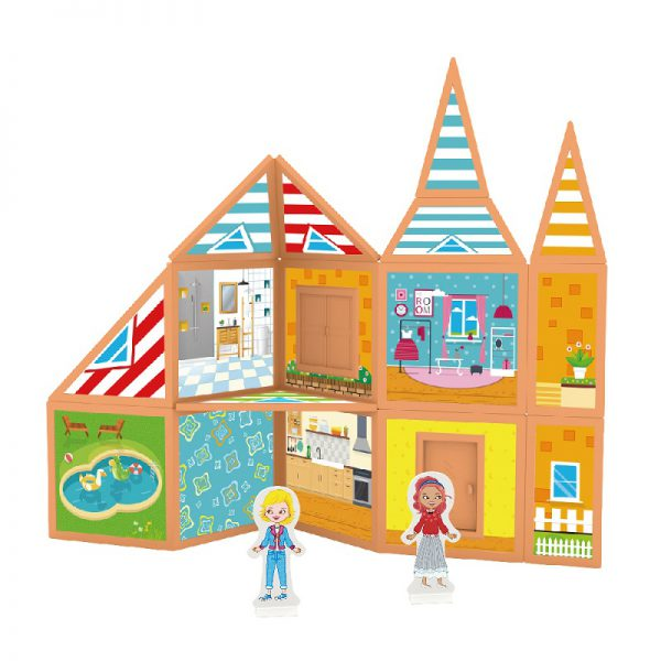 בית החלומות שלי + מדבקות מגנט 61 חלקים - PLAYMAGER