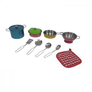 סט כלי מטבח מנירוסטה 11 חלקים- צבעוני