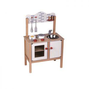 מטבח מעץ לילדים דגם 'בואו נבשל' כולל אביזרים - PITOYS