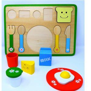 פאזל ארוחת בוקר מעץ 13 חלקים - PITOYS