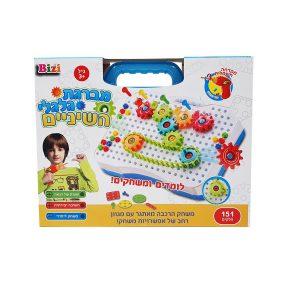 משחק מברגת גלגלי השיניים 151 חלקים - BIZI