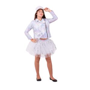 תחפושת לפורים רוקיסטית לבנה לילדות - שושי זוהר