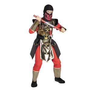 תחפושת לפורים נינג'ה לוחם החרבות אדום זהב- שושי זוהר