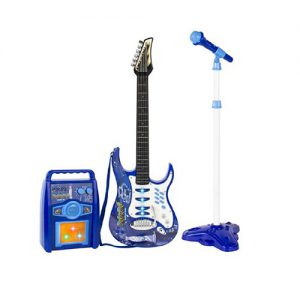 סט גיטרה חשמלית לילדים סט עם גיטרה, מיקרופון, חצובה, כבל MP3