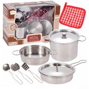 סט כלי מטבח מנירוסטה 9 חלקים