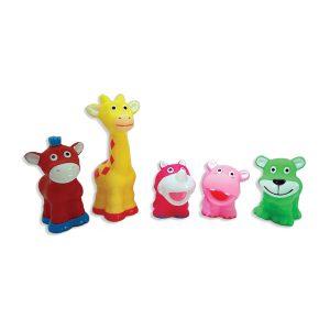 צעצועי אמבטיה - מגוון משפריצים בסל רשת PITOYS